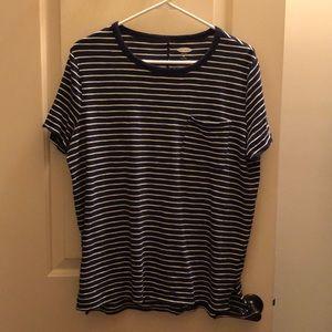 Old navy striped Boyfriend Top